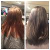 Transformed from a warm brown to a steely grey by Allie