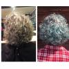 Vivids Teal hilites on silver hair by Heidi